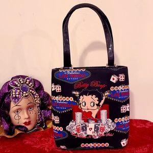 Betty Boop In Vegas Mini Tote! With Rhinestones!